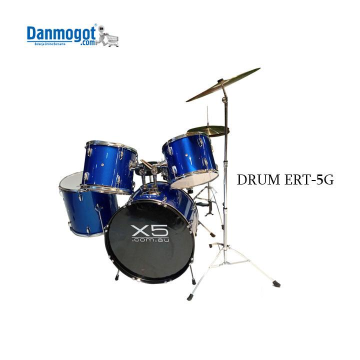 Drum and Drum Stool ERT-5G Red