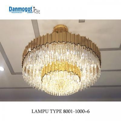 LAMPU CHANDELIER 8001-1000+6